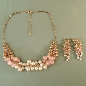Vintage Avon Belle and Blush Necklace & Earrings